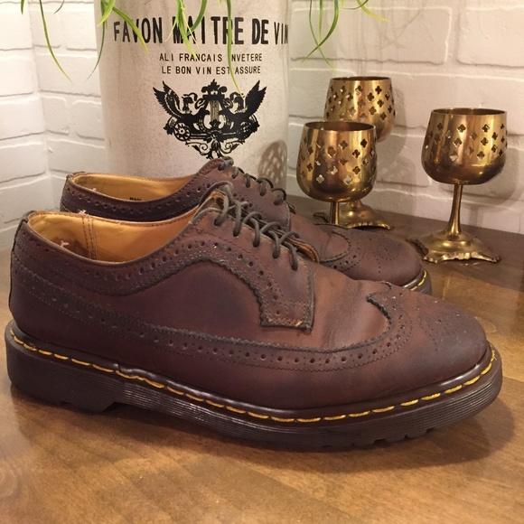 71fbe6c3b Dr. Martens Shoes | Dr Martens 398959 Wingtip Brogue Oxford Mens 9 ...